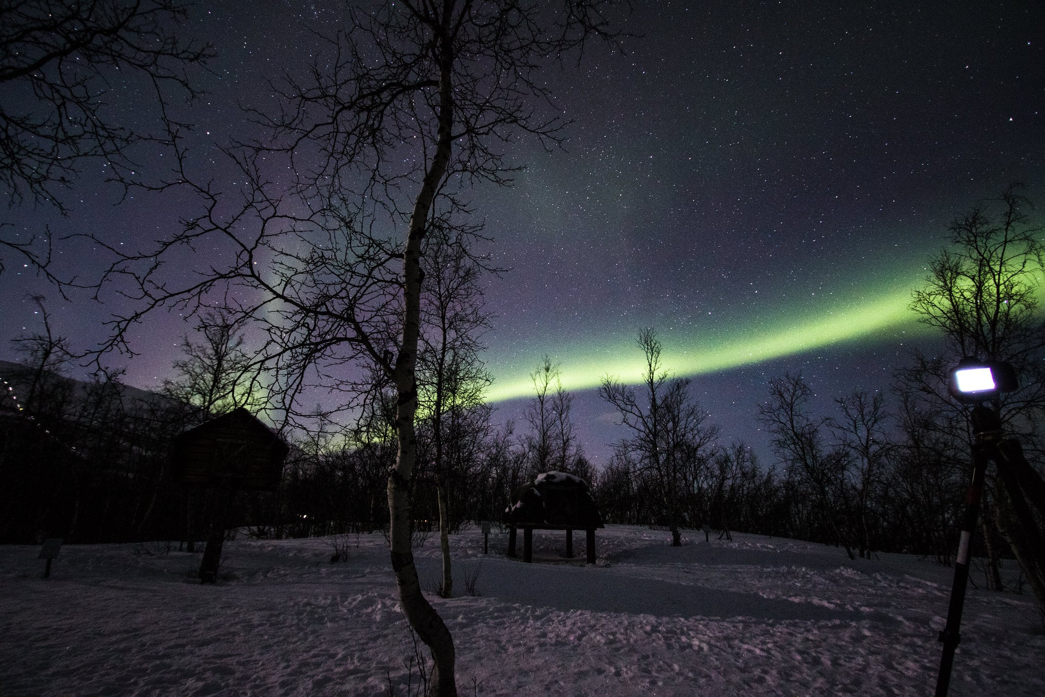 bisko is particularly known as one of the best places for spotting the northern lights due to the ideal weather conditions and dry air, but it is also a breathtaking location from a landscape point of view