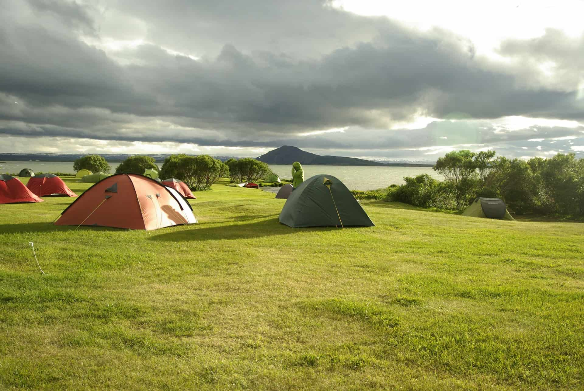Lake Myvatn is one of the beautiful places to set up your tent in Iceland