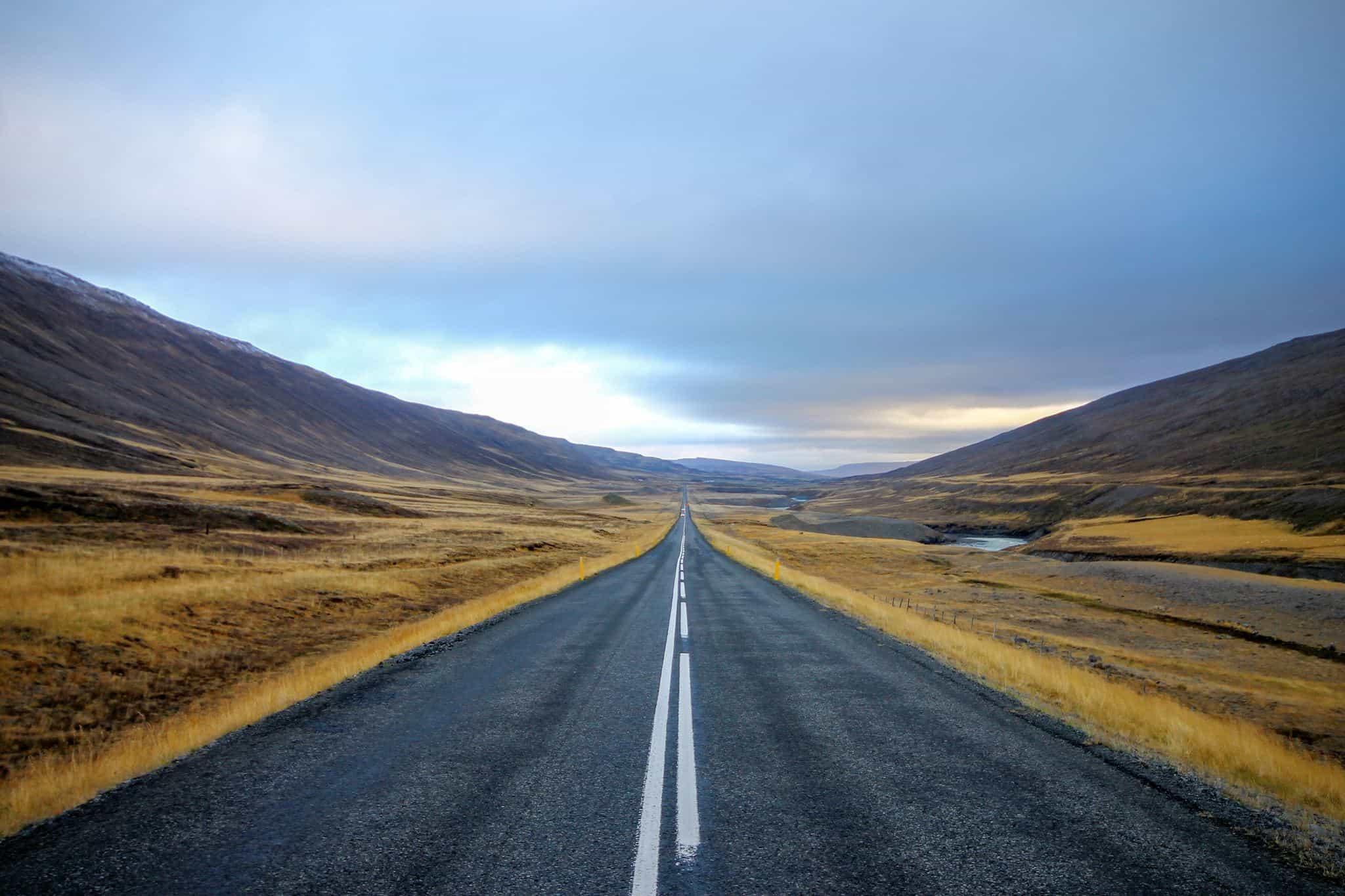 Iceland roads