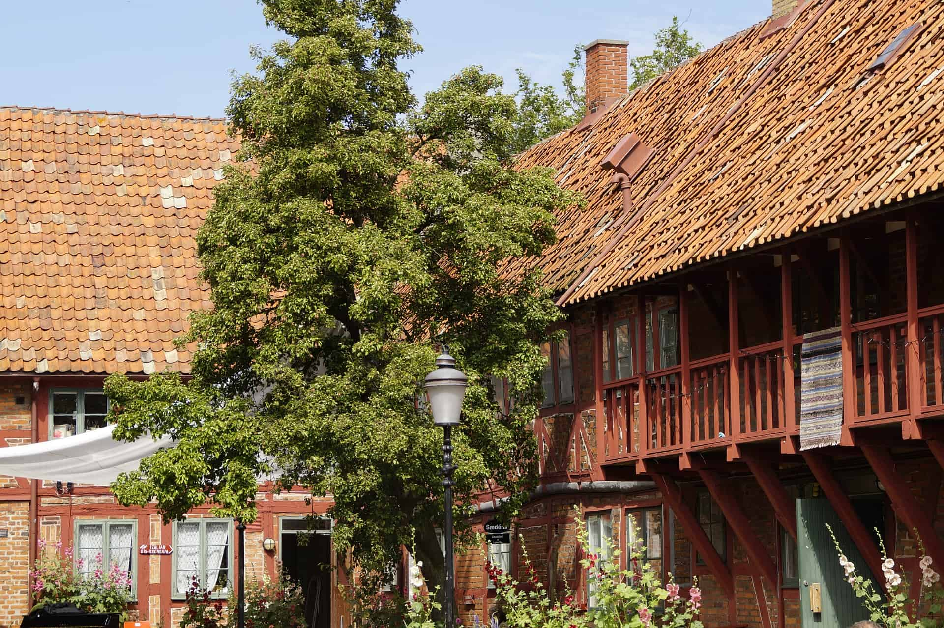 Ystad has a well-maintained center that dates back to the Middle Ages.