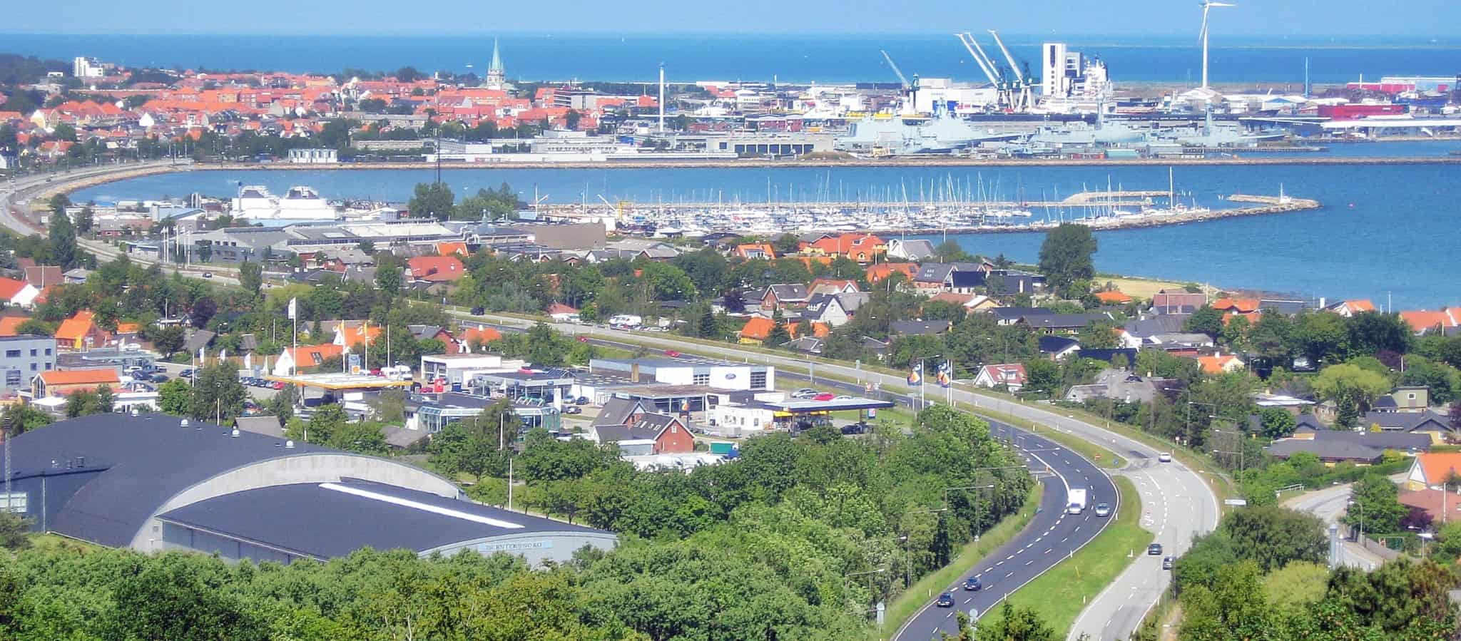 Frederikshavn is a small harbor town in the north of Denmark. The port is an important hub for ferry services throughout Scandinavia.