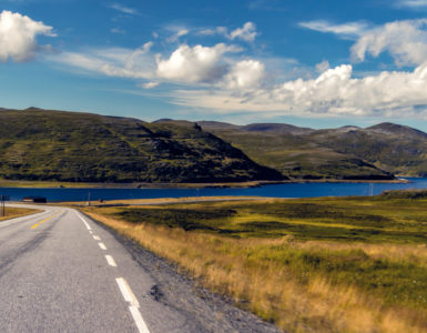 Although Norway has few roads, the road trip is generally quiet and easy to cycle.