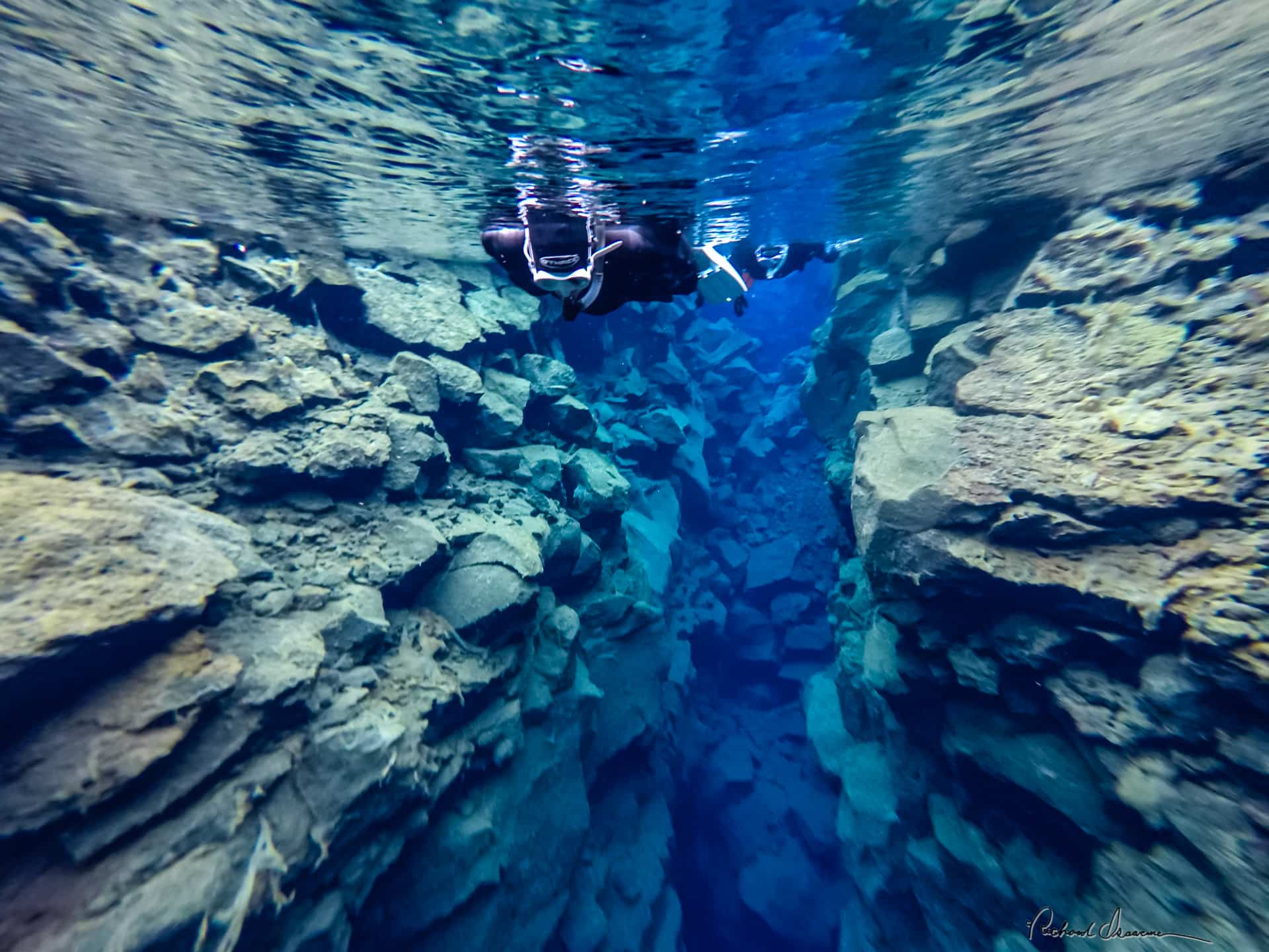 The most famous place for snorkeling or diving in Iceland is the Silfra gorge, in the Thingvellir national park.
