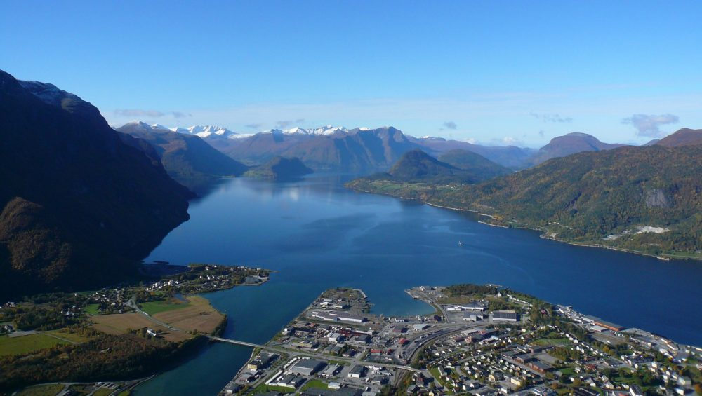 Åndalsnes and the Romsdalsfjord